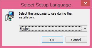 セットアップ言語選択